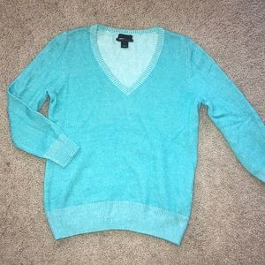 J CREW teal Italian cashmere sweater,S!EXCELLENT